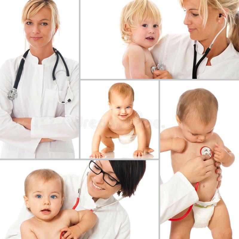 Pediatra - collage imagen de archivo