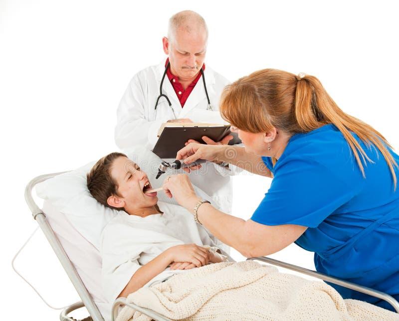 Pediatria - paciente infeliz fotografia de stock