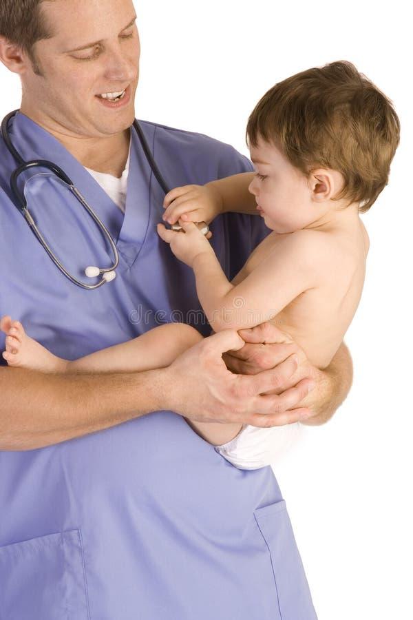 Pediatrician royalty free stock photo