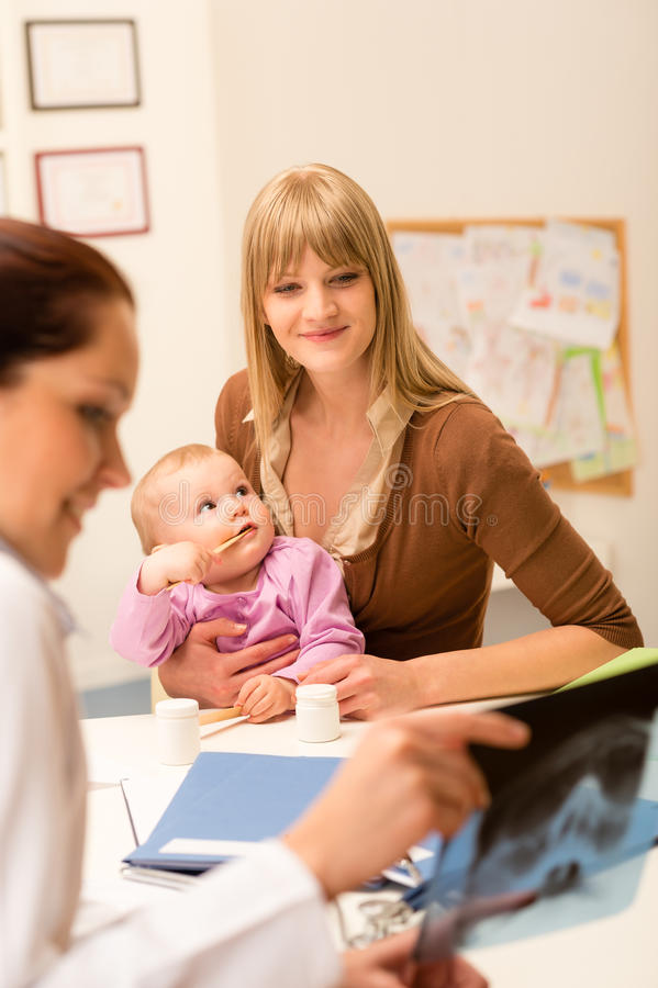 Baby At Pediatrician S Office Stock Photo Image Of