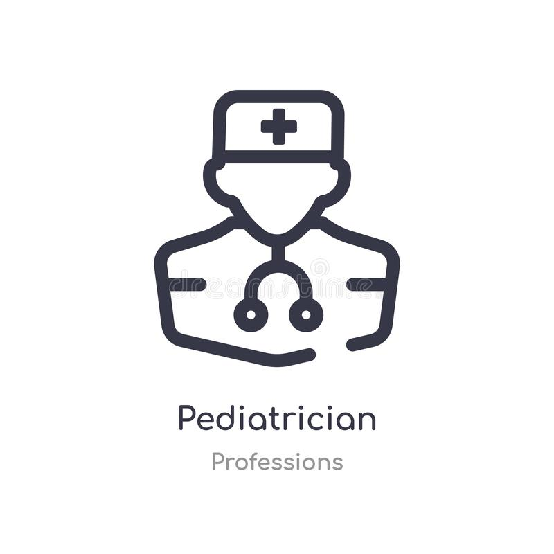 pediatrician outline icon. isolated line vector illustration from professions collection. editable thin stroke pediatrician icon stock illustration