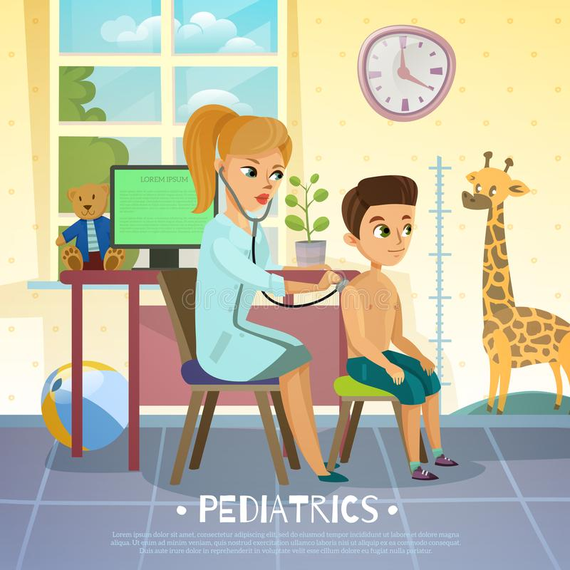 Pediatrisk avdelningsillustration royaltyfri illustrationer