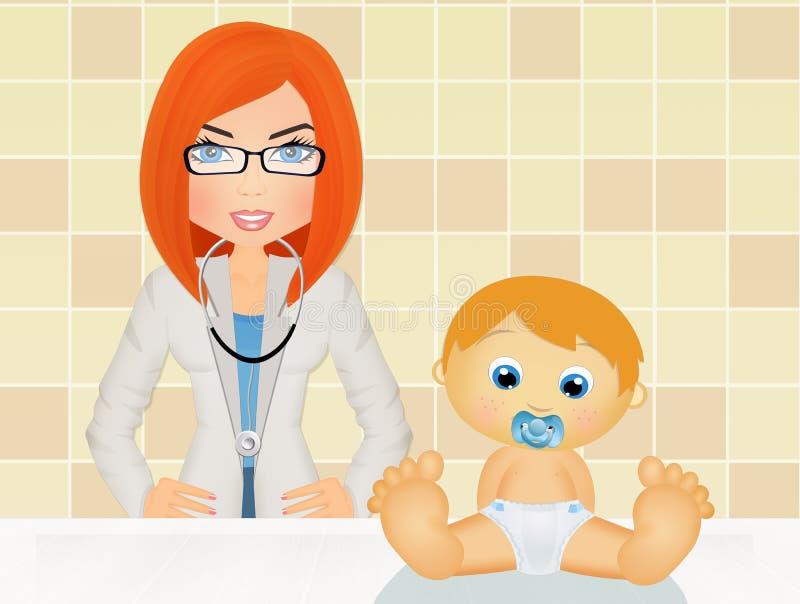 pediatrisk visit royaltyfri illustrationer