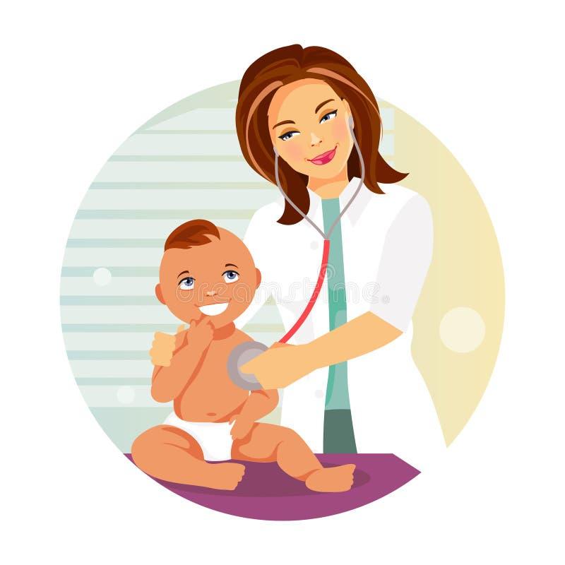 pediatriskt barn vektor illustrationer