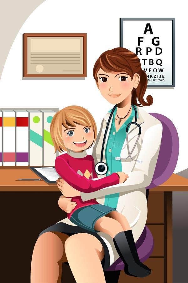 pediatriskt barn royaltyfri illustrationer