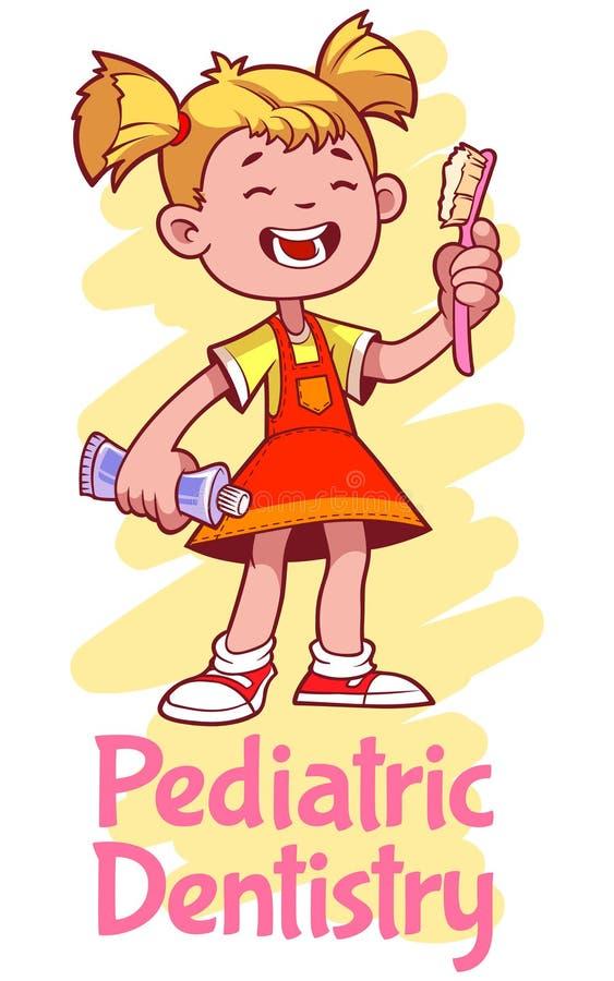 Pediatryczna dentystyka ilustracja wektor