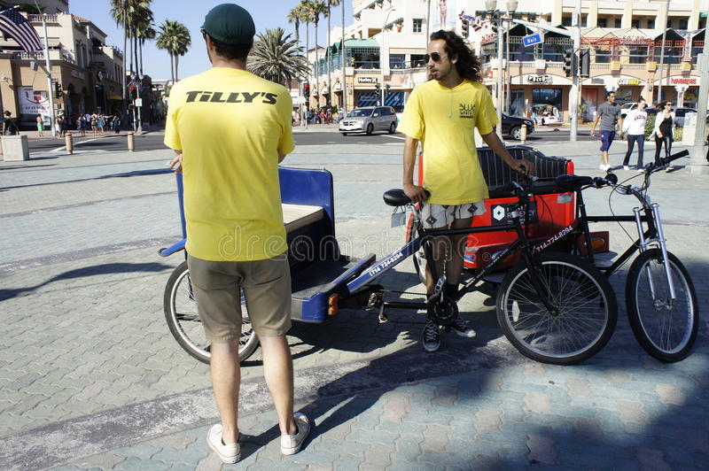 Pedicab Drivers royalty free stock images