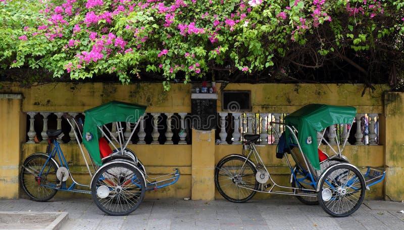 Pedicab, eco transport vehicle royalty free stock image
