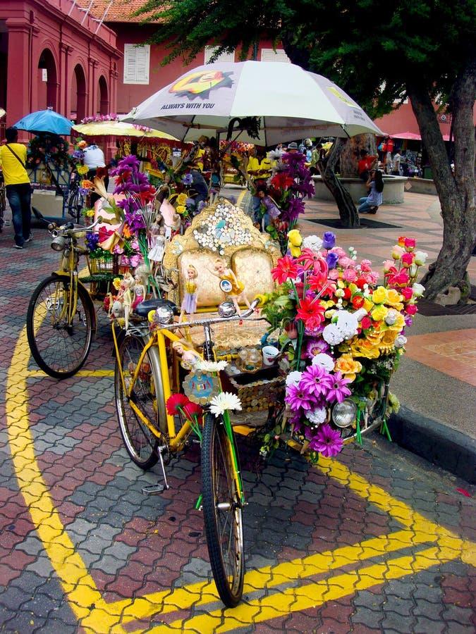 Pedicab, Malacca, Malaysia stock photography