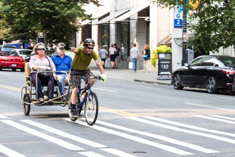 Pedicab in Seattle, Washington royalty-vrije stock afbeelding