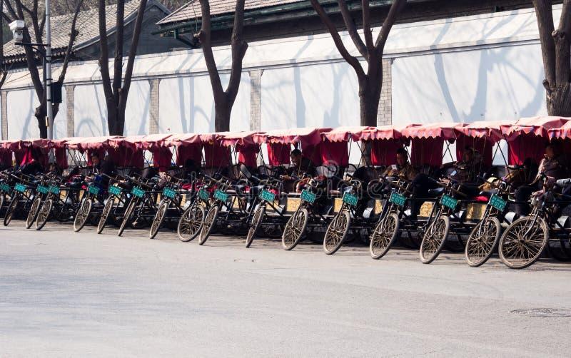 Pedicabs στο Πεκίνο στοκ εικόνα με δικαίωμα ελεύθερης χρήσης