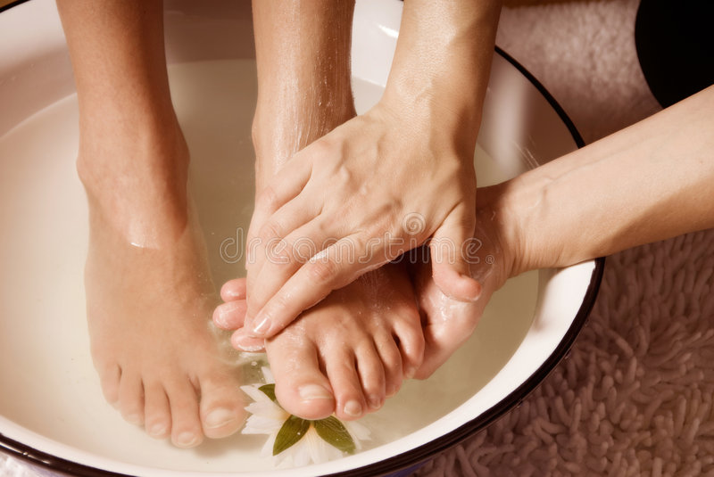 Pedicure foto de stock