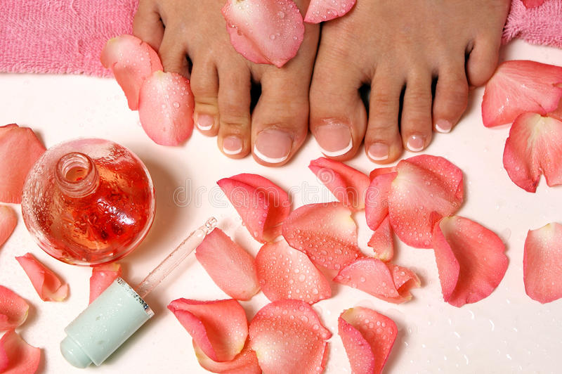 Download Pedicure stock photo. Image of petals, massage, freshness - 18418698