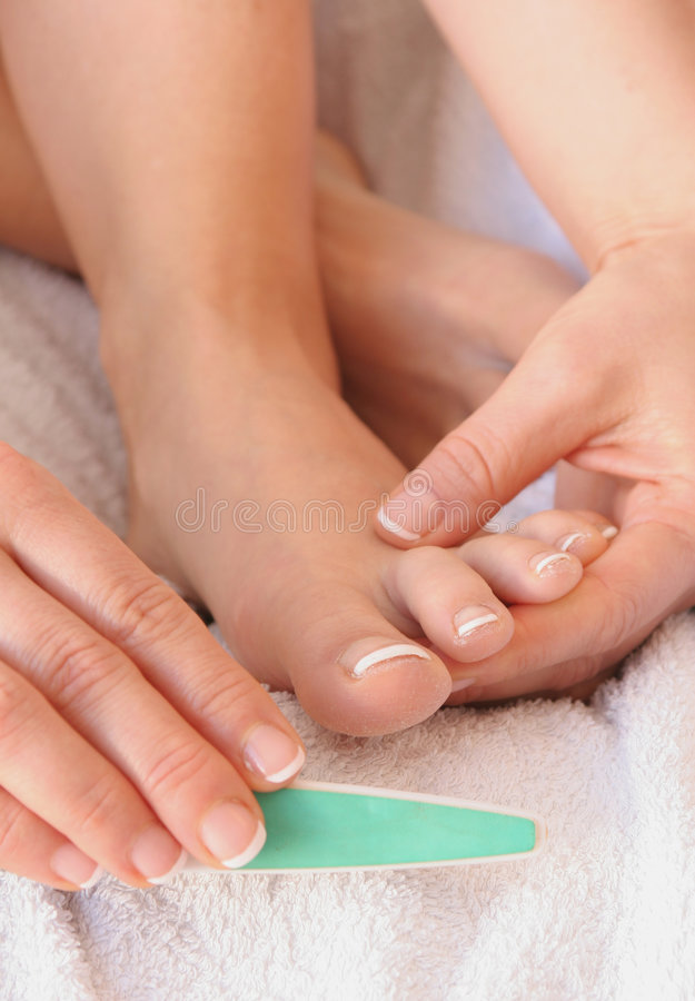 Pedicure royalty-vrije stock fotografie