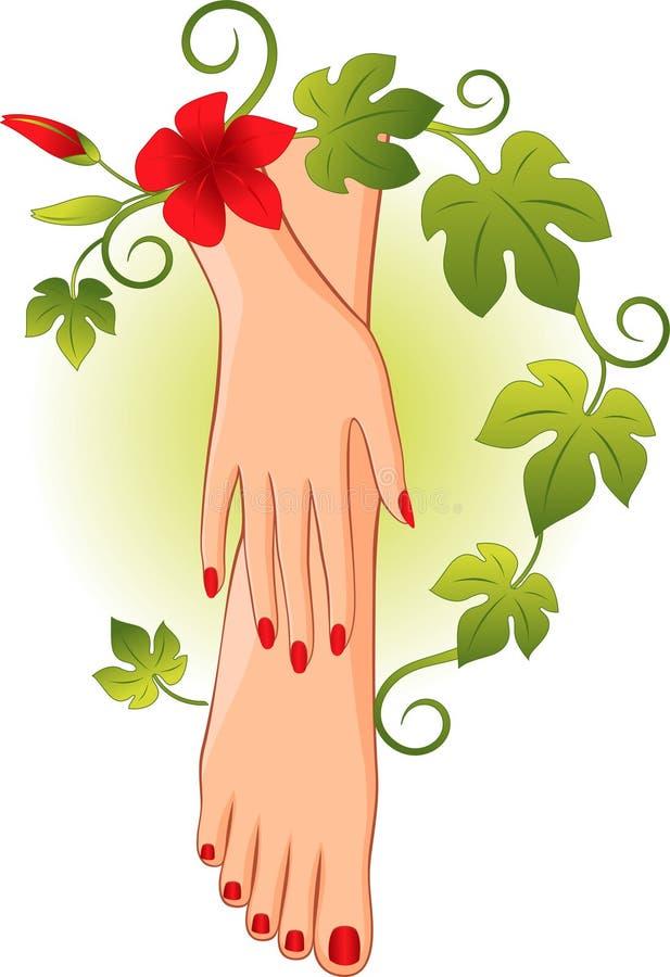 Pedicure del manicure illustrazione di stock