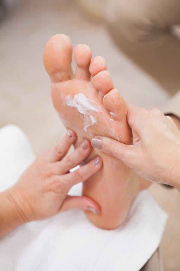 Pedicure die massageroom wrijven stock afbeelding