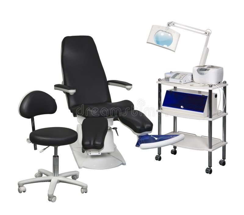 Pedicure equipment stock photo