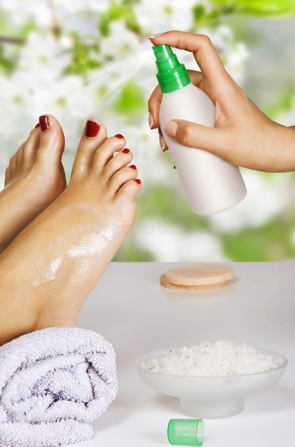 Free Pedicure In The Spa Salon Stock Photography - 24495522