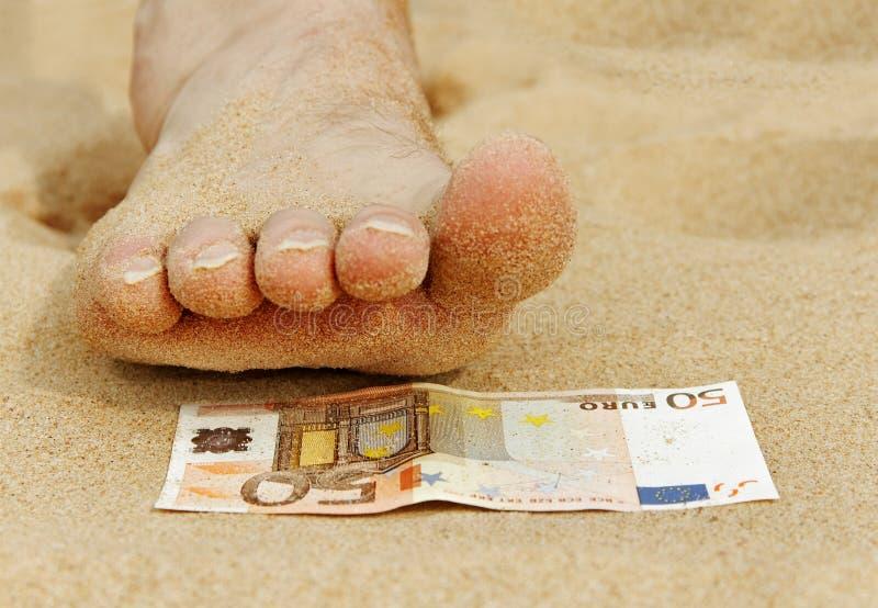 Pedicure para o euro cinqüênta. imagens de stock