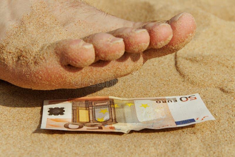 Pedicure para o euro cinqüênta. fotografia de stock