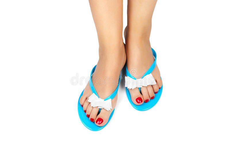 Pedicure&Slippers-2 στοκ φωτογραφίες