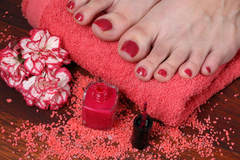 Download Pedicure in the spa salon stock photo. Image of barefoot - 34034768