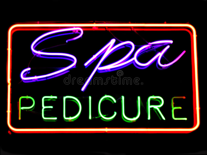 pedicure'u spa obrazy stock