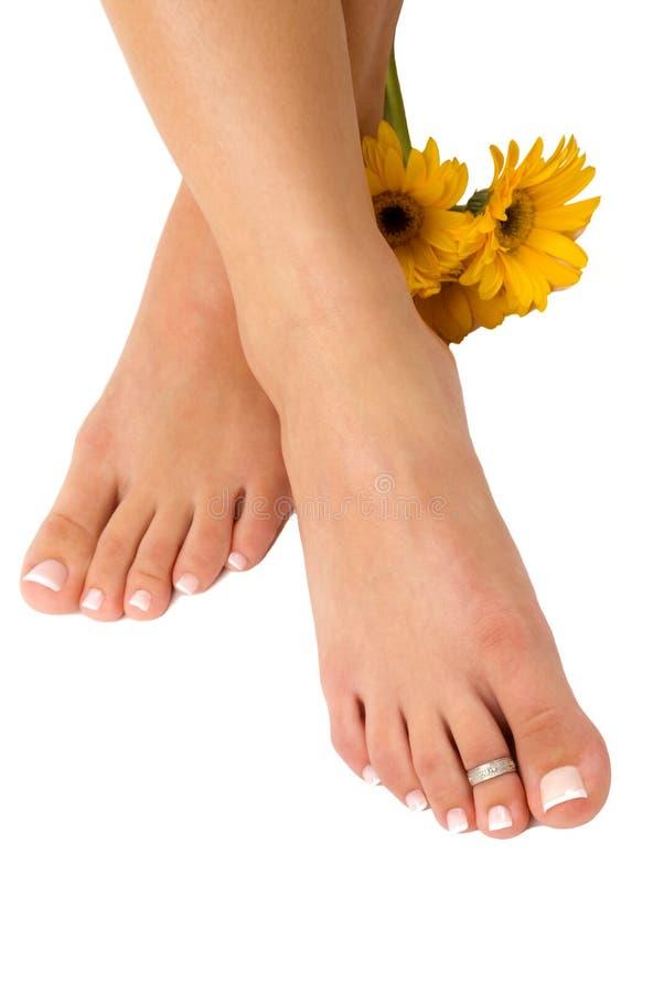 Pedicured Füße lizenzfreie stockbilder