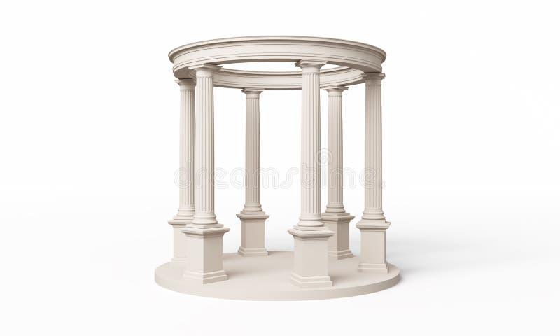 Pedido clássico, Doric Rotunda ilustração royalty free