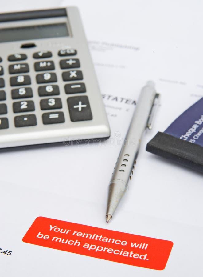 Pedido para o pagamento rápido: cliente expirado? foto de stock royalty free