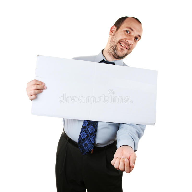 Pedinte do negócio foto de stock
