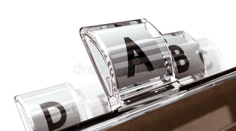 Pedir do alfabeto ilustração do vetor