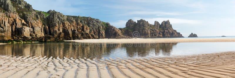 Pedn Vounder strand Cornwall England fotografering för bildbyråer