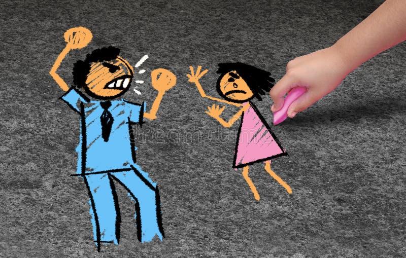 Pedofilia illustrazione vettoriale