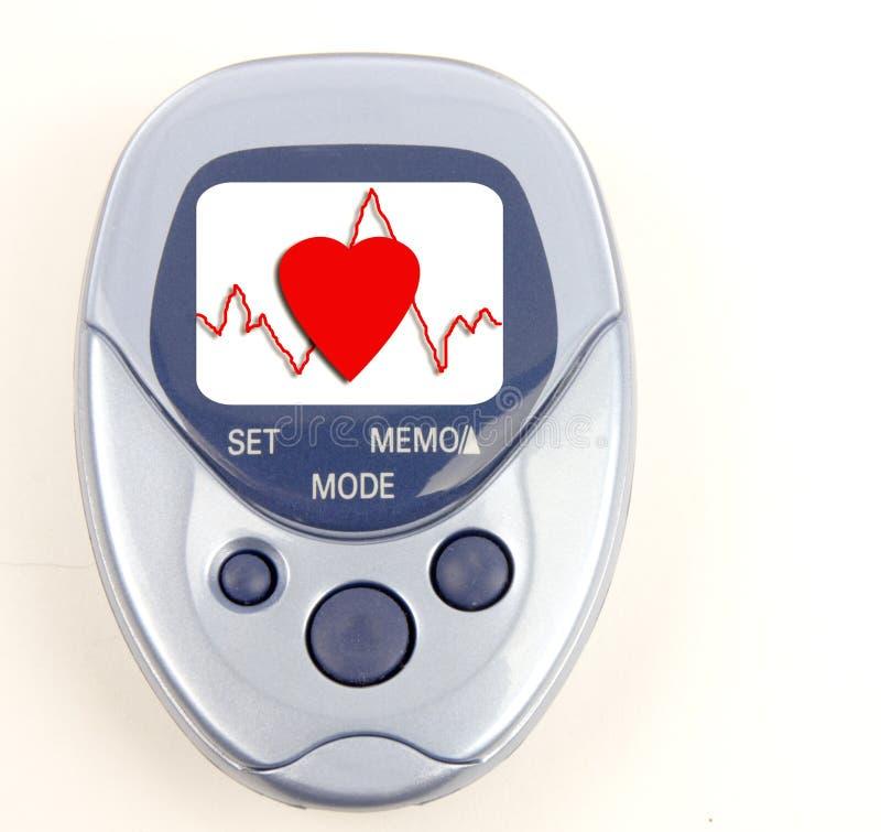 Pedometer κτύπου της καρδιάς στοκ εικόνες