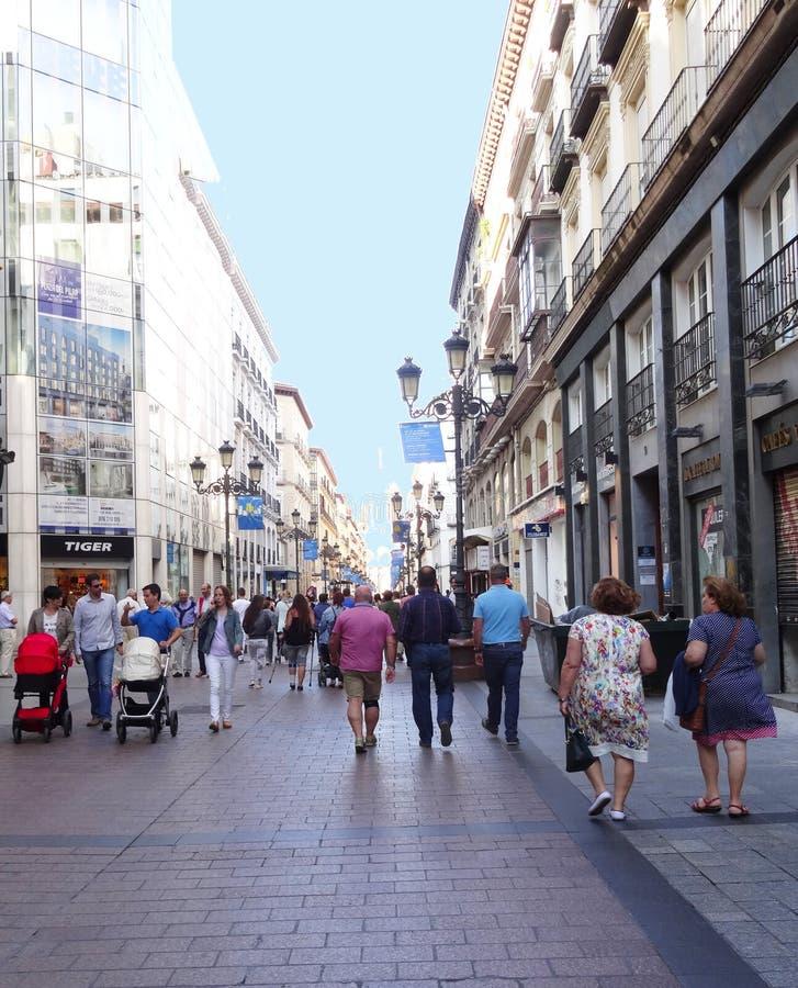 Pedonal Street Zaragoza Spain Editorial Photography Image of