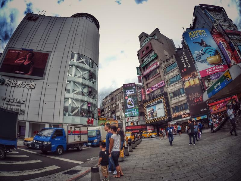 Pedone di Ximending fotografia stock libera da diritti