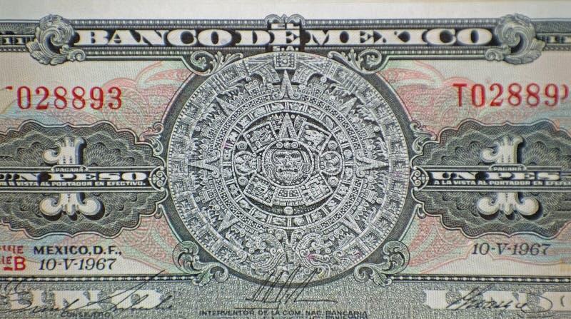 Pedra asteca de Sun do calendário fotos de stock