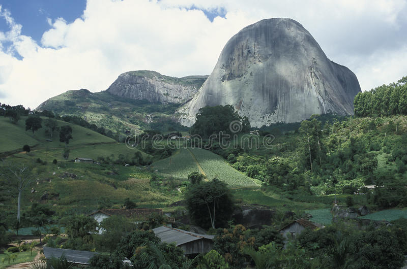 The Pedra Azul (Blue Stone) in the state of Espirito Santo, Brazil. stock images