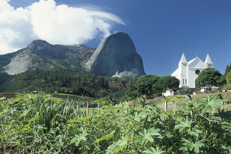 Pedra Azul w stanie Espirito Santo, Braz (Błękitny kamień) zdjęcie stock