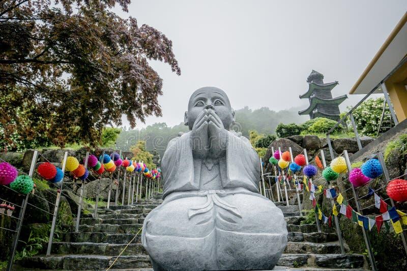 Pedra budista no templo foto de stock royalty free