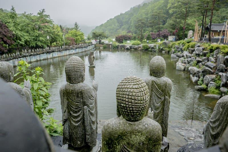 Pedra budista no templo fotos de stock royalty free