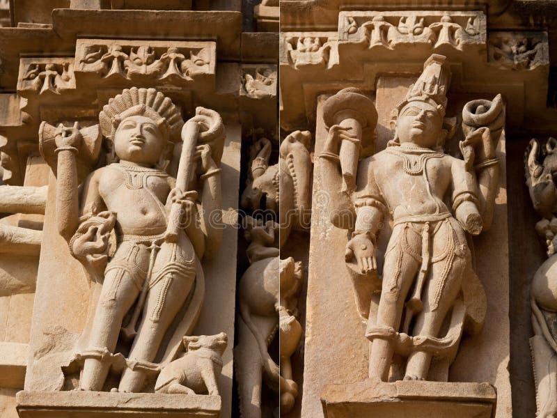 Pedra cinzelada em Khajuraho imagens de stock royalty free