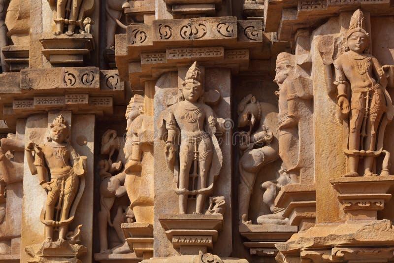 Pedra cinzelada em Khajuraho, India fotos de stock royalty free