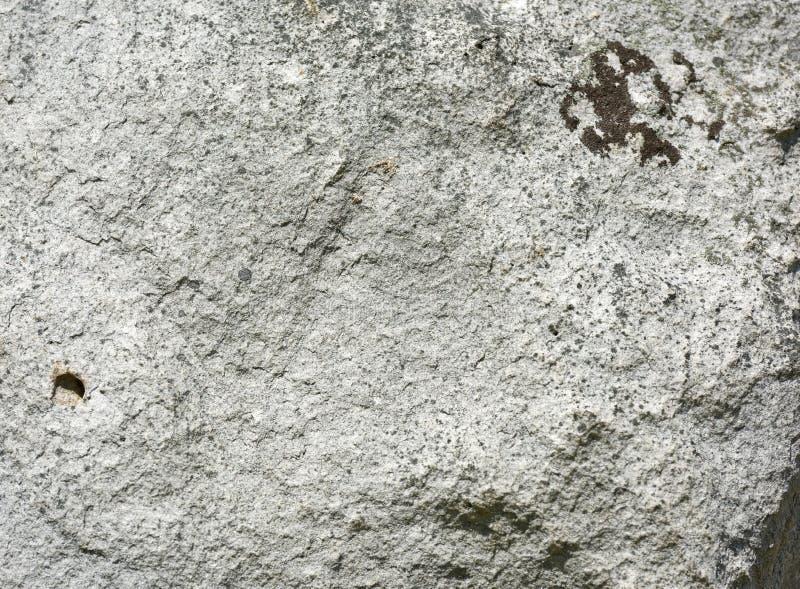 A pedra com musgo marrom detalhou a textura, contexto imagem de stock