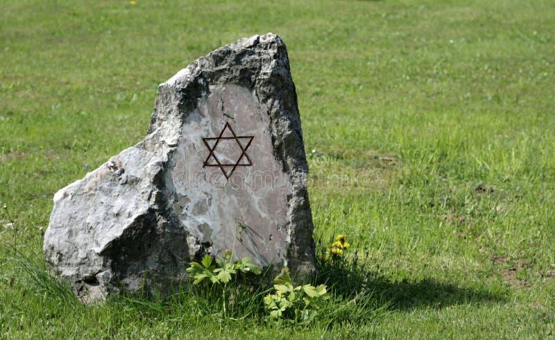 A pedra comemorativa fotografia de stock