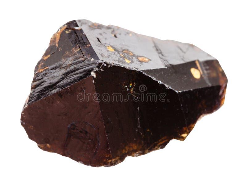 Pedra cristalina do minério da lata do Cassiterite isolada fotos de stock