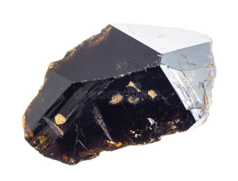 pedra crua do cassiterite (minério da lata) no branco fotografia de stock royalty free
