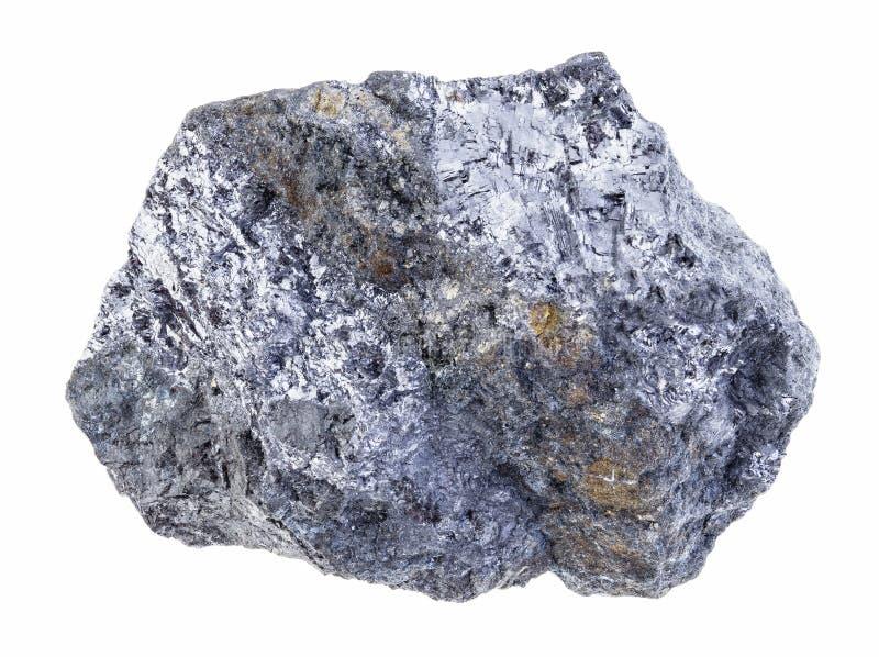 pedra crua do galeno (galenite) com veia da calcopirite imagens de stock