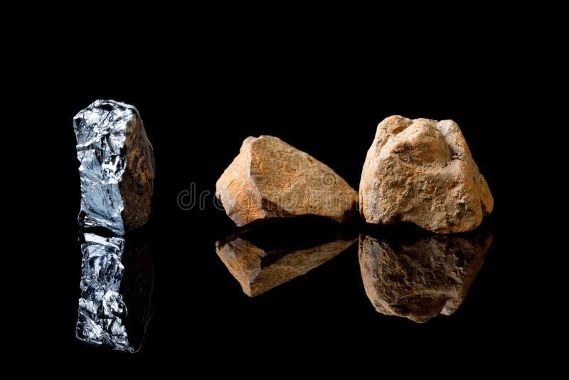 Pedra da rocha do Hematite foto de stock